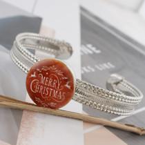 20MM Navidad esmaltado pintado C5493 estampado broches joyería