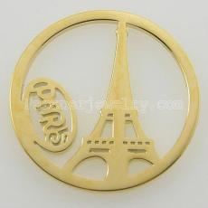 33MM Edelstahl Münze Charme passen Schmuck Größe Paris Turm