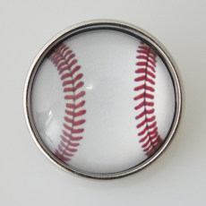 20MM Snap Glass Baseball KB2504-N Snaps Bijoux interchangeables