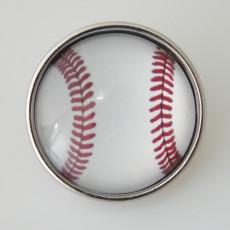 20MM Snap Glass Baseball KB2504-N Snaps Bijoux interchangeables