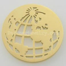 Los encantos de monedas de acero inoxidable 33MM se ajustan a la joyería tamaño tierra