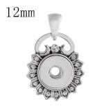 Colgante de collar con diamantes de imitación sin ajuste de cadena 12MM broches de joyería KS0338-S