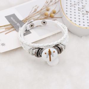 20MM Painted Easter cross Patterns enamel metal C5671 print snaps jewelry