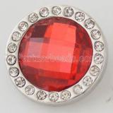schnappt facettierten Kristall mit roten Strass Snaps