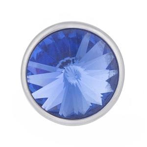 12MM Broche redondo plateado con diamantes de imitación KB5588-S broches de joyería
