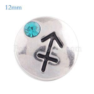 12MM snap Dec. birthstone cyan KS5130-S bijoux interchangeables
