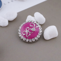 20MM marathon 26.2KM snap silver Antique plated with rose-red enamel KC5280 snaps jewelry