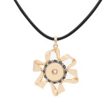 pendant Necklace with 80CM Cortex chain KC1302 fit 20MM chunks snaps jewelry
