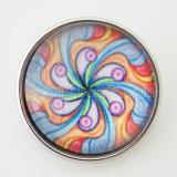 20MM оснастка разноцветное стекло Декоративный рисунок KB2871-N сменные защелки ювелирные изделия