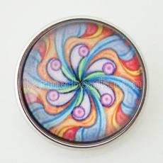 20MM Snap buntes Glas Dekoratives Muster KB2871-N austauschbare Snaps Schmuck