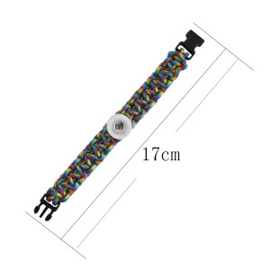 18CM  Handmade Lifesaving Children's rope colorful line bracelets kid junior style CH3008 fit 20mm snaps chunks
