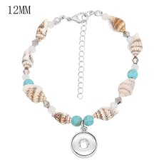 1 buttons Shell snap sliver  Anklet fit snaps jewelry KS1244-S