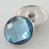 18MM complemento de aleación de cristal azul claro facetado KB2701-AL broches intercambiables