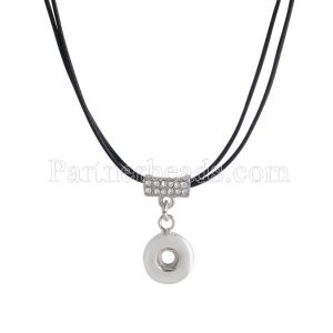 26CM Necklace with Rhinestones KS0929-S fit 12mm chunks snaps jewelry