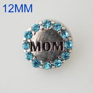 12mm mamá se ajusta con diamantes de imitación azules KB6618-S complemento de joyería