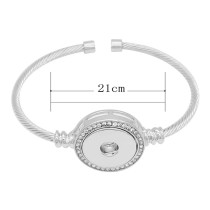 1 buttons snap sliver bracelet fit 20MM snaps jewelry KC0870