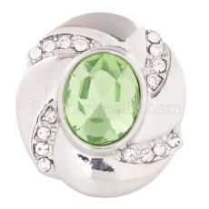 20MM snap Aug. birthstone green KC5078 interchangable snaps jewelry