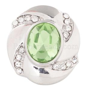 20MM snap Aug. birthstone green KC5078 broches intercambiables joyería