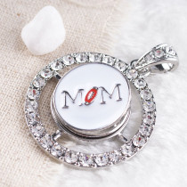 20MM mother snap Antique Silver Plated with white Enamel KB8066 snaps jewelry