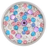 Broches de azúcar 18mm Aleación con diamantes de imitación Joyas de broches KB2408-AA