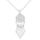 Pendant Necklace with 60CM chain KC1084 fit 20MM chunks snaps jewelry
