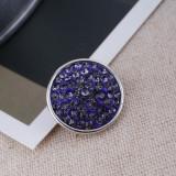 Broches de azúcar 18mm Aleación con diamantes de imitación púrpura Joyas de broches KB2323