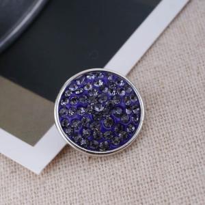 18mm Sugar snaps Alloy with purple rhinestones KB2323 snaps jewelry