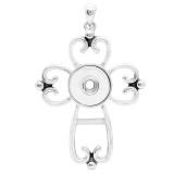 Colgante de collar sin cadena KC0446 encaje de broches estilo 18 / 20mm joyería de broches