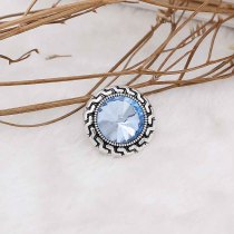 20MM snap Mar. birthstone light blue KC6576 interchangable snaps jewelry