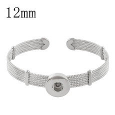 1 buttons snap sliver bracelet fit 12MM snaps jewelry KS1224-S