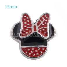 12mm snaps Silver Plated with Enamel KS5103-S snap jewelry