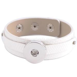 Partnerbeads 20CM 1-Druckknöpfe Abnehmbare Knöpfe für Druckknöpfe aus weißem Kunstleder KC0221 Austauschbares Schmuck-Druckknopf-Zubehör