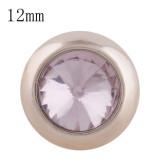 12MM bouton pression rond en or rose avec strass rose KS9686-S s'enclenche les bijoux