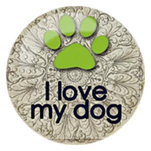 20MM Собака с росписью эмалью под металл C5369
