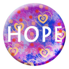 20MM espoir Métal émaillé peint C5263 imprimé violet