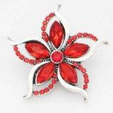 Astilla de diseño 20MM plateada con diamantes de imitación rojos KC6712 broches de joyería