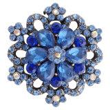 20MM оснастка серебро с покрытием темно-синих стразы KC7303 оснастки ювелирные изделия