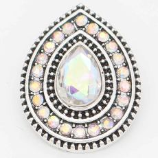 20MM design snap Silver Plated with Colorful rhinestone KC6716 snaps jewelry