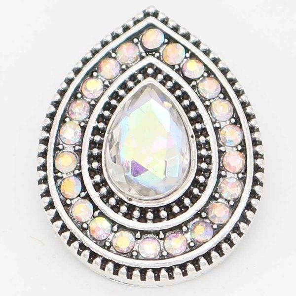 Diseño 20MM chapado en plata con diamantes de imitación coloridos KC6716 broches de joyería