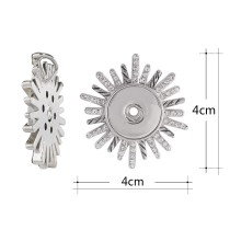 Pendant of necklace without chain with Rhinestone fit 18/20mm snaps style jewelry KC0377