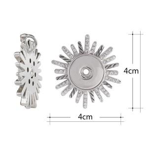 Colgante de collar sin cadena con ajuste de diamantes de imitación 18 / 20mm broches de joyería de estilo KC0377