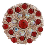 20MM design Rose-Gold Plated with red rhinestone KC7602 snaps jewelry
