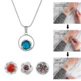 Placa de plata Colgante de collar sin cadena en forma 12MM broches estilo pequeños trozos de joyería