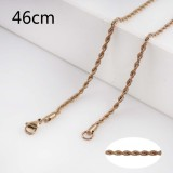 46CM rose gold Stainless steel fashion rope chain fit all jewelry