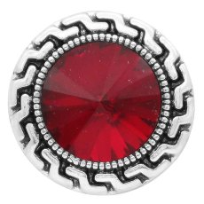 20MM snap Jan. birthstone rojo oscuro KC6574 broches intercambiables joyería