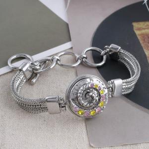 Diseño 20MM chapado en plata con diamantes de imitación amarillos KC5555 broches de joyería