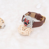 20MM Cartoon Snap versilbert mit Emaille KC5723 CH3 Snaps Schmuck
