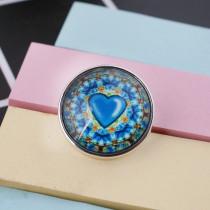Verre à pression 20MM Loveheart C1051 interchangeable bleu