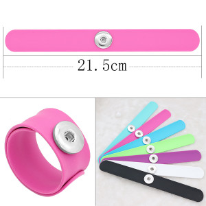 Creative papa circle Silica gel Hot Sale Trendy Snap Button Bracelet Bangles fit 20MM Snap Jewelry fun gift