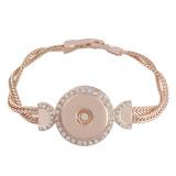 19CM 1 кнопка металлические браслеты из розового золота подходят к защелкам кусочки KC0760